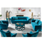 new product rounded lines modern american style navy blue office sofa modern