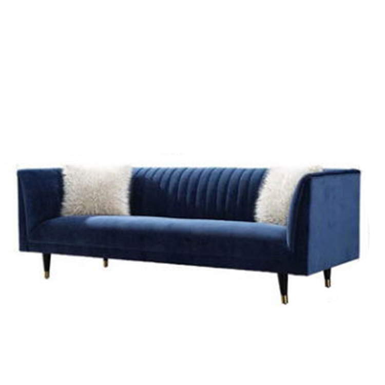 custom furniture living room used genuine fabric sofa with metal legs