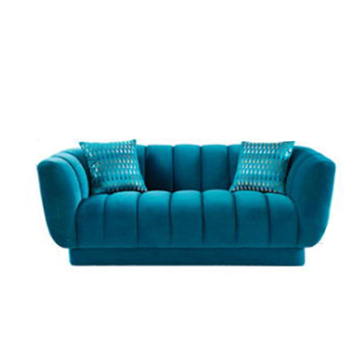 factory modern design beautiful chesterfield furniture navy blue fabric low floor sofa