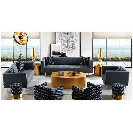 wholesale factory fabric black 7 seater set seating room furniture sofa set