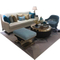 Royal style luxury large office furniture 5 seat sectional lounge leather couches sofas set for living room