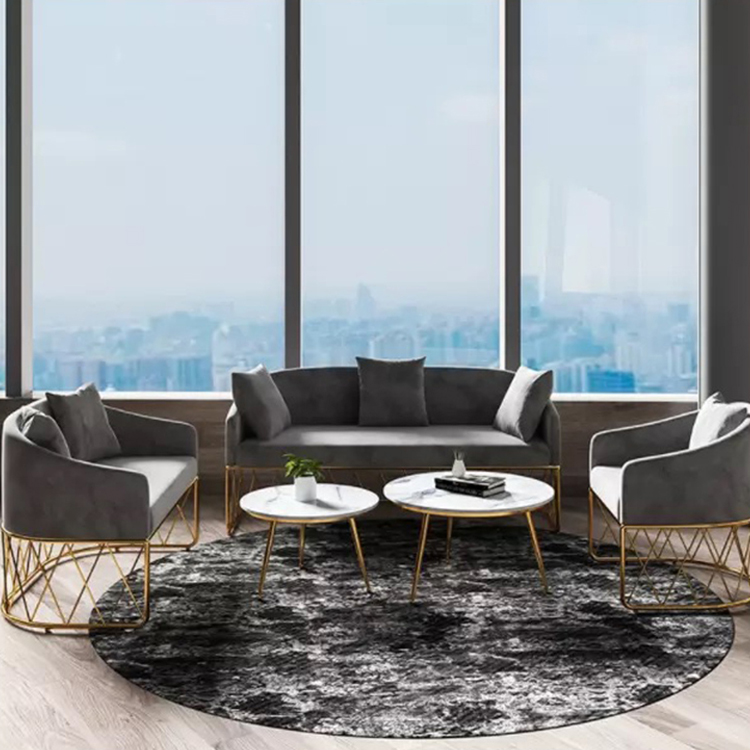 Soft comfortable living room furniture high back velvet couch recliner single sofas sets with legs for lobby