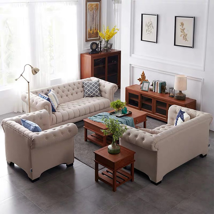 custom modern big funiture linen fabric couch living room modular sectional 3 seater sofa