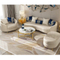 custom design modern living room italian european luxory leisure white genuine leather 3 seats sectional sofa set for theater