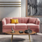 custom modern new fashion 3 piece living room furniture garden highback pink leisure 7 seater couples sofa set