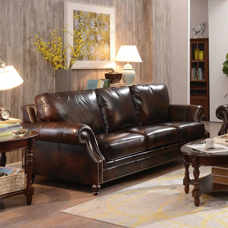 The most popular morden office 3 2 seater brown couches sectional furniture luxury leather sofa set three
