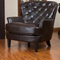 custom modern Sir William series furniture durable leather sofa 1 seater sofa chair