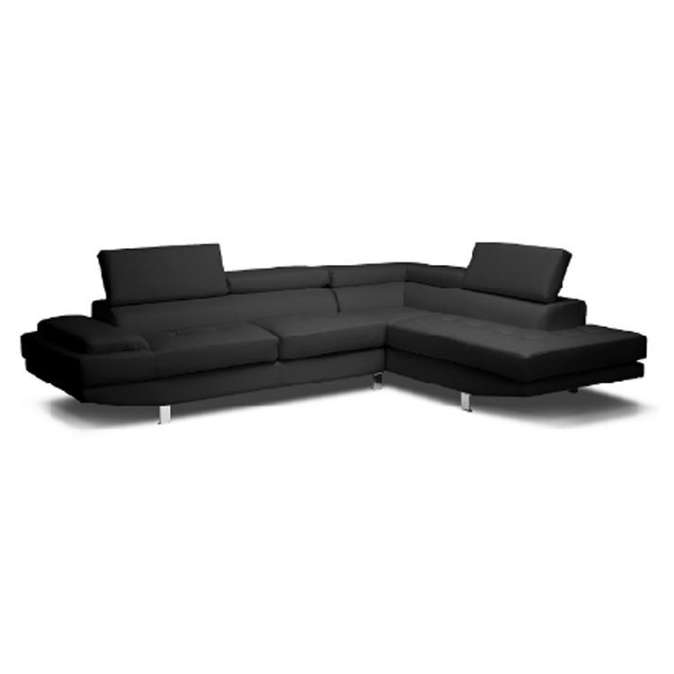 Leisure luxury modern sectional L shaped leather reclining couch furniture sofa set for bedroom