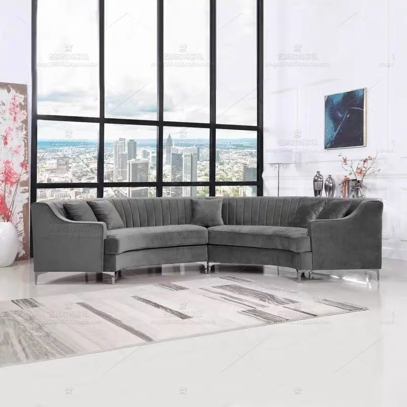 new product upright outspoken line fabric modern couch with white sofa pillow