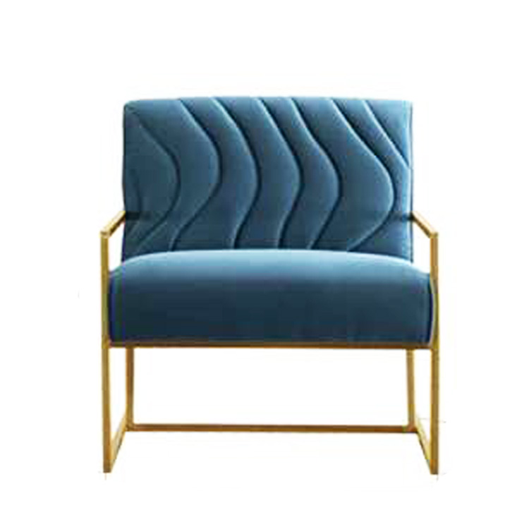 custom morden cheap hotel lobby bar luxus linen sofa seat with metal legs
