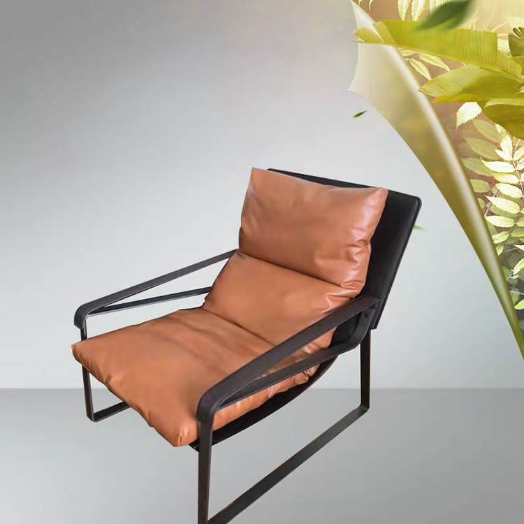 Wholesale new fashion head leather sleeping lounge couch single sofa deck chair for livingroom