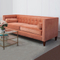 custom modern outdoor bedroom furniture 2 seater velvet couch sofa cama set with solid wood feet