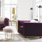 northern europe style purple good value fabric living room 3 seat sofa