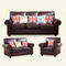 Luxury smooth luxury furniture wooden reclining leather couches chesterfield sectional sofa sets