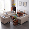 European style royal big funiture linen fabric couch living room modular sectional 3 seater sofa